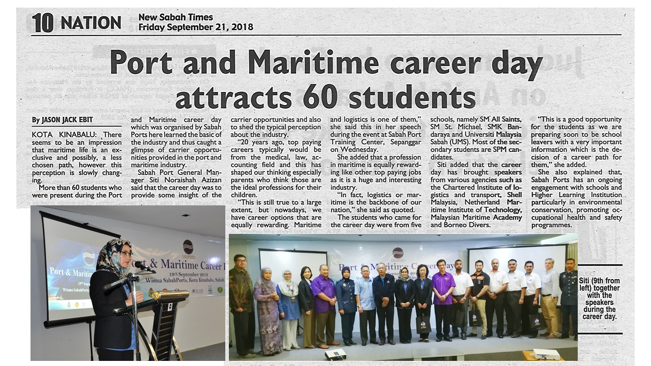 Port and Maritime Career Day Attracts 60 Students